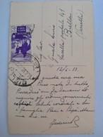 Foto Cartolina Anno 1939 Viaggiata Con Francobollo Libia Cirenaica - Libia