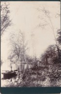 ANTIQUE CABINET PHOTO. MAN IN ROWING BOAT.  NO STUDIO - Photographs