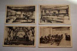 4 Cpa St-LOUIS De PRATLONG Près LACAZE  Un Dortoir,Salle D'études, Réfectoire Et Chapelle - France