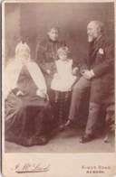 ANTIQUE CABINET PHOTO. FAMILY GROUP. 3 GENERATIONS ??. NEWARK STUDIO - Photographs