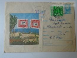 ZA102.68  Romania Stationery -Cover  -PORTO Stamps HUNGARY  - Postage Due - 1948-.... Republics
