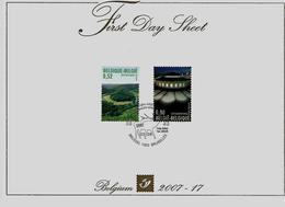 Belgie - Belgique FDS 3676/77 - Gemeenschappelijke Uitgifte Luxemburg - FDC