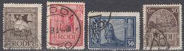 RODI (occupazione ITALIA) - 1932/1933 - Lotto Di 4 Valori Obliterati: Yvert 50, 51, 53 E 54. - Egeo (Rodi)