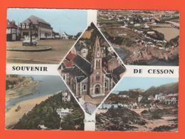 PL/17  SOUVENIR DE CESSON // Eglise Place Plage  / écrite 1967 Timbre Poste - France