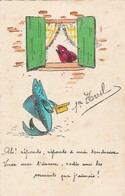 Fétes : 1er  AVRIL : ( Poisson Humanisé ) Avec Paillettes - Carte Souple - 1° Aprile (pesce Di Aprile)