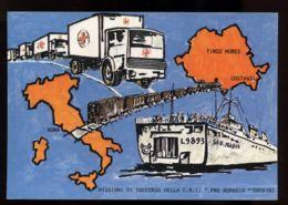 B7591 CROCE ROSSA - MISSIONI DI SOCCORSO DELLA CROCE ROSSA ITALIANA - PRO ROMANO 1989-1990 - Croce Rossa