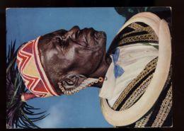 B7593 ETHNIC FLOKLORE KENYA - AFRICAN ELDER IN TRADITIONAL COSTUME - Africa