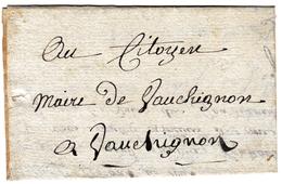 Lettre 2 Fructidor An IX Mairie De Nolay 20 Août 1801 Côte D'Or Vauchignon - Marcofilie (Brieven)