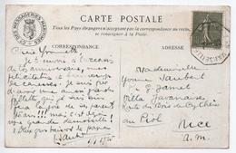 "1925 - CP Avec CACHET MARITIME ""MARSEILLE A YOKOHAMA N°1"" Sur SEMEUSE LIGNEE - Postmark Collection (Covers)"