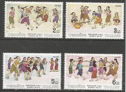 Thailand - 1991 Childrens Day (Games) MNH **    Sc 1379-82 - Thailand