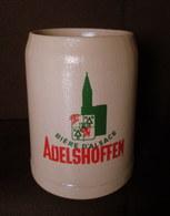 CHOPE Bière D'Alsace ADELSHOFFEN Grab Mug Beer Krug Bier Elsass Céramique Grès Stoneware Sandstein 0,5 L. ! - Beer
