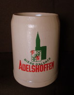 CHOPE Bière D'Alsace ADELSHOFFEN Grab Mug Beer Krug Bier Elsass Céramique Grès Stoneware Sandstein 0,5 L. ! - Bière