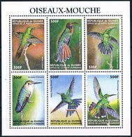 Bloc Sheet Oiseaux Mouche Birds  Hummingbirds Neuf  MNH **  Guinee Guinea 1999 - Hummingbirds