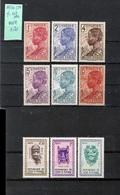 COTE D'IVOIRE - 9V **MNH (1936/38 Y&T 109-114 + 1960 181-3) HEADDRESSES / MASKS - Côte D'Ivoire (1960-...)