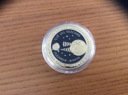 """Médaille """"1962 PREMIÈRE LIAISON TÉLÉVISÉE PAR SATELLITE LE RADÔME -CITÉ DES TÉLÉCOMS- PLEUMEUR BODOU""""(métal, Diam 3,8cm) - Tourist"""