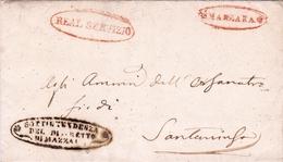 Lettre Sottitendenza Del Distretto Mazara Del Vallo 1853 Sicile Napoli Sicilia Trapani Santa Ninfa Italia  Real Servizio - Sicile