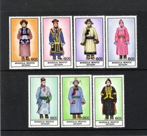 MONGOLIE (1986) - (7V **MNH) - COSTUMES TRADITIONNELS - Mongolie