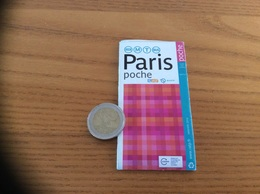 Plan (Metro, Autobus, RER ) Paris Poche Edition JANVIER 2016 - Europe