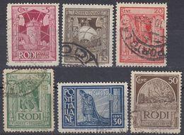 RODI (occupazione ITALIA) - 1932/1933 - Lotto Di 6 Valori Obliterati: Yvert 49/54 - Egeo (Rodi)