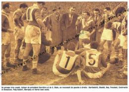 RUGBY : PHOTO (1951), CHAMPIONNAT DU MONDE DE RUGBY A 13 EN AUSTRALIE, PUIG-AUBERT, RINALDI, BARRIERE, PONSINET... - Rugby