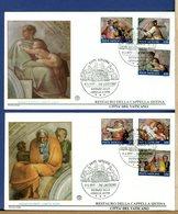VATICANO -  FDC 1991 -   MICHELANGELO - RESTAURO CAPPELLA SISTINA - FDC