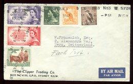 Australie - Enveloppe De Sydney Pour La Suisse En 1953 , Oblitération Linéaire - O 313 - 1952-65 Elizabeth II : Pre-Decimals