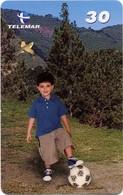 Jeu D'enfant Ballon Foot Télécarte Telefonkarte Phonecard (D 366) - Jeux