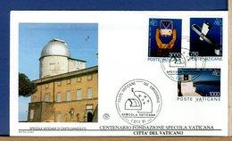 VATICANO -  FDC 1991 -   SPECOLA VATICANA DI CASTELGANDOLFO  -  OSSERVAZIONI METEO ASTROLOGICHE - Astronomia