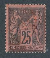 """CG-80: FRANCE: Lot """"SAGE N/U""""  N°91 Obl Rouge - 1876-1898 Sage (Type II)"""
