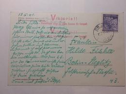 BOHEMIA & MORAVIA 1941 Postcard With Victory Viktorial Cachets - Bohemia & Moravia