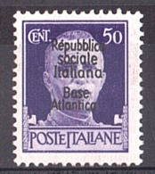 1943/44 - Base Navale Italienne De Bordeaux - N° 12 - Neuf ** - Kriegsausgaben