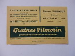 Buvard Graines Vilmorin, Pierre Vuibout à Montcornet (Aisne). - Buvards, Protège-cahiers Illustrés
