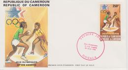 FDC CAMEROUN  JEUX OLYMPIQUES  DE LOS ANGELES 1984 ( Basket Ball ) - Sommer 1984: Los Angeles