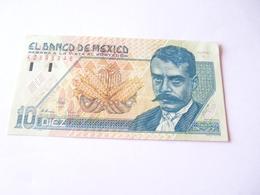 A  Vendre 1 Billet Du Mexique De 10 Diez  . Tout Petit Prix De Départ - Mexique