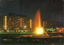 Cairo (Egitto, Egypt) Midan Tahrir, Hilton Hotel By Night, Le Cairo Hotel Hilton La Nuit - Cairo