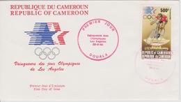 FDC CAMEROUN  JEUX OLYMPIQUES  DE LOS ANGELES 1984 ( Vainqueurs ) - Sommer 1984: Los Angeles
