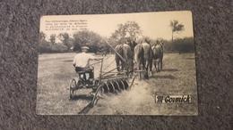 Cpa Publicitaire Publicité  - Dechaumeuse à Disques Mc Cormick - Werbepostkarten