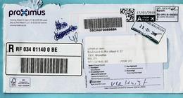 PB-PP Omslag Aangetekend 17/01/2018 + Nederlands Vignet VERHUISD - Marcophilie
