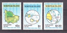 Norfolk - 1991 - N° 490 à 492 - Neufs ** - Ham Radio - Ile Norfolk