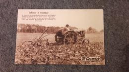 Cpa Publicitaire Publicité  - Labour à Tracteur Mc Cormick - Publicité