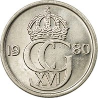 Monnaie, Suède, Carl XVI Gustaf, 25 Öre, 1980, TTB, Copper-nickel, KM:851 - Suède