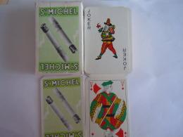 52 Kaarten Cartes + 2 Jokers + Doosje Pub Sigaretten Cigarettes St. Michel Kaarten Zeer Goede Staat - Playing Cards (classic)