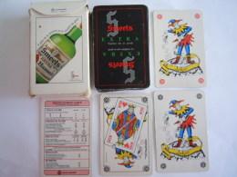 52 Kaarten Cartes + 2 Jokers + Bridge Table + Doosje Pub Smeets Genever Alkohol Gebruikt - 54 Kaarten