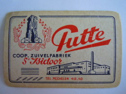 Speelkaart Coop Zuivelfabriek St. Isidoor Putte Belgie Gebruikt - 54 Cartes