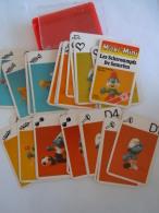 Jeu De Familles Kwartet Maxi-Mini Les Schtroumpfs De Smurfen Format 4,5 X 6,5 Cm In Doosje Deksel Licht Beschadigd - Speelkaarten