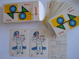 52 Kaarten Cartes + 2 Jokers + Bridge + Doosje Box Trading Motor Oil Canasta Niet Gebruikt état Neuf - 54 Cartes