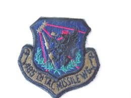 Patch Stoffen Schildje Blazoen 485 TH Tac Missile Wg Wing Insigne - Militaria