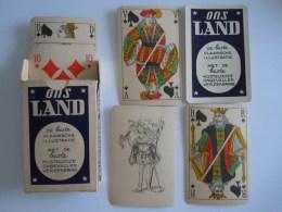 52 Kaarten Cartes + 1 Jokers + Blanco Kaart & Doosje Box Ons Land De Beste Illustratie Niet Gebruikt état Neuf Whist - 54 Cartes