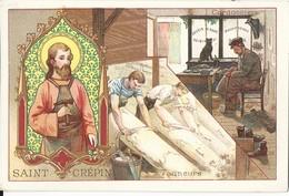 CHROMO ANCIENNE  - LES SAINTS - SAINT CREPIN - TBE - Chromos