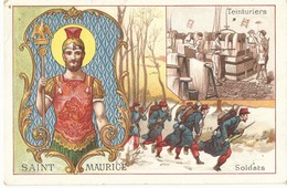 CHROMO ANCIENNE  - LES SAINTS - SAINT MAURICE - TBE - Chromos